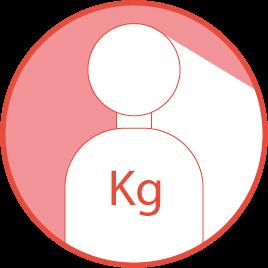 Peso máximo de usuario recomendado