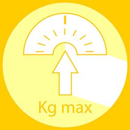 Peso máximo do utilizador recomendado: 90kg